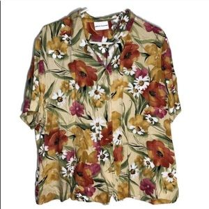 ♦️Alfred dunner floral short sleeve button down 20